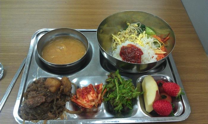 韓國私立高中營養午餐