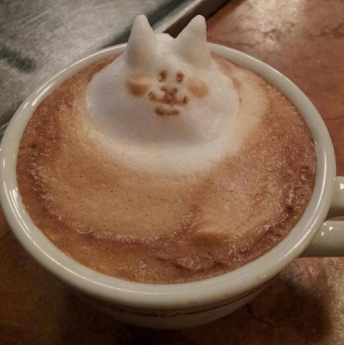 3D咖啡拉花:山本員揮的拿鐵藝術 06
