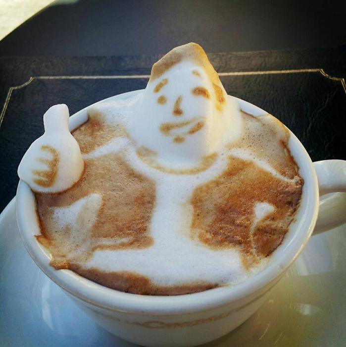 3D咖啡拉花:山本員揮的拿鐵藝術 09