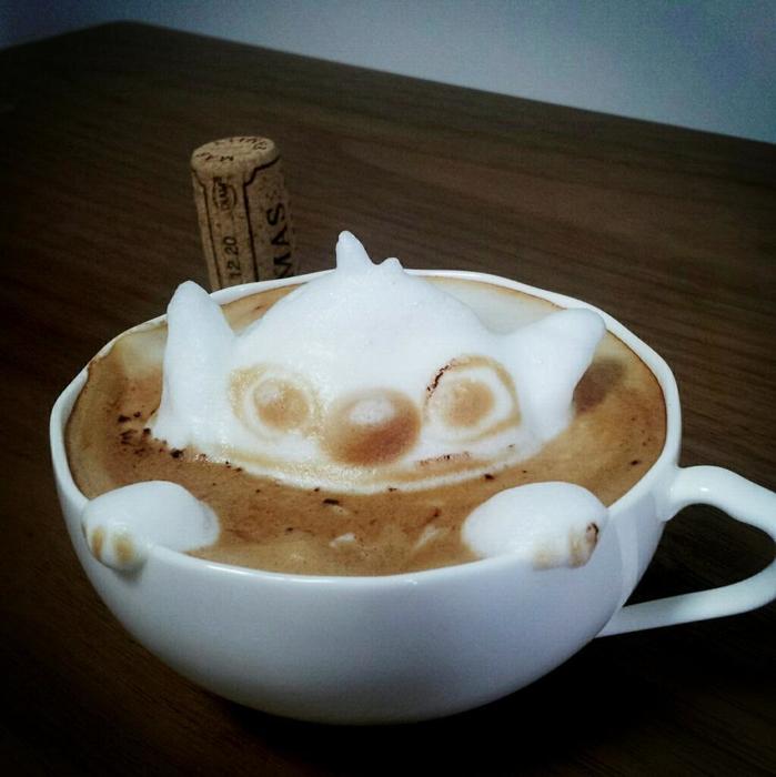 3D咖啡拉花:山本員揮的拿鐵藝術 13