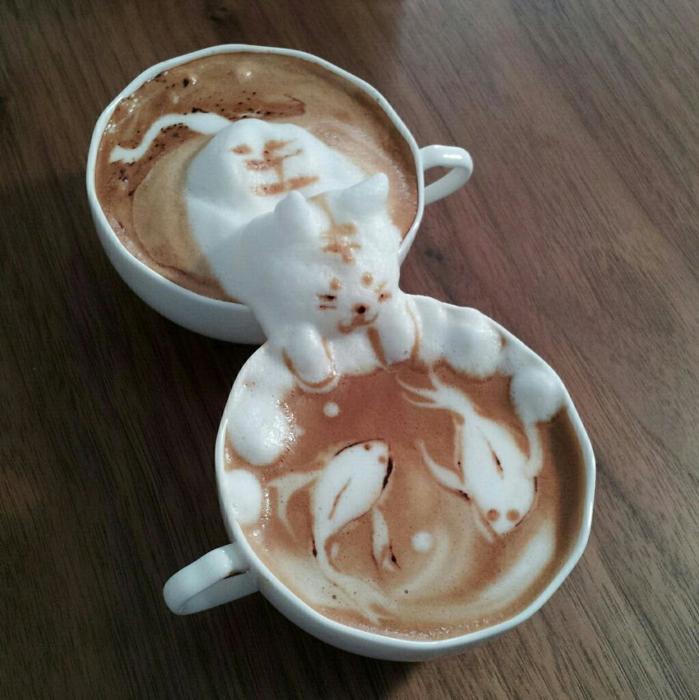 3D咖啡拉花:山本員揮的拿鐵藝術 14