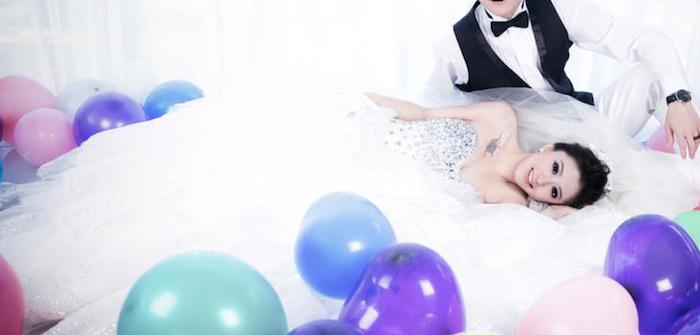 蕾蕾穿婚紗