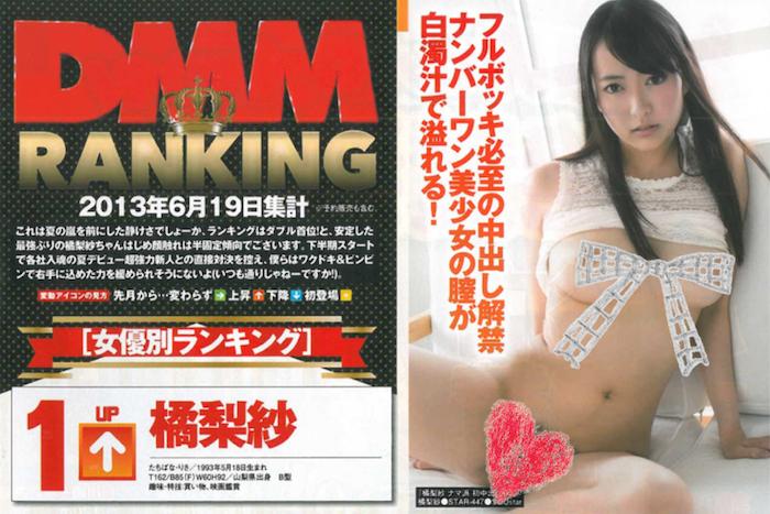 DMM 2013年9月AV女優排行榜