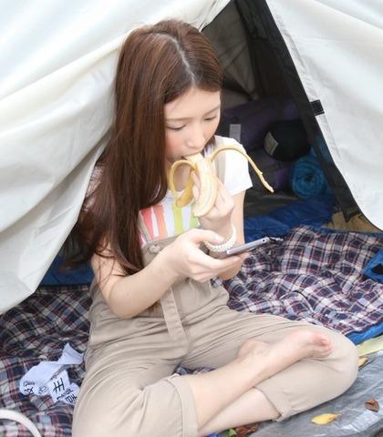 雞排妹 吃香蕉