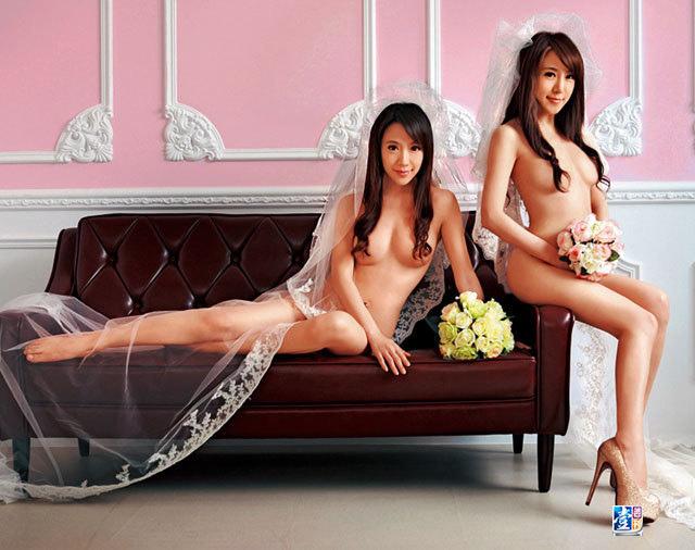 伊伊佩佩 裸體婚紗