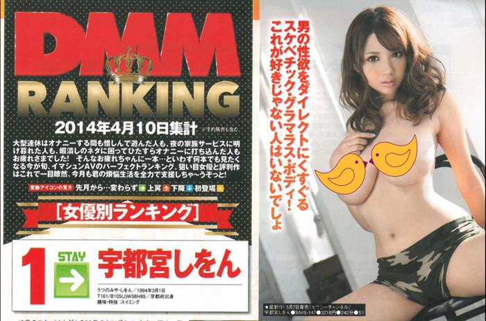 DMM 2014年7月 AV女優排行榜 Top 10