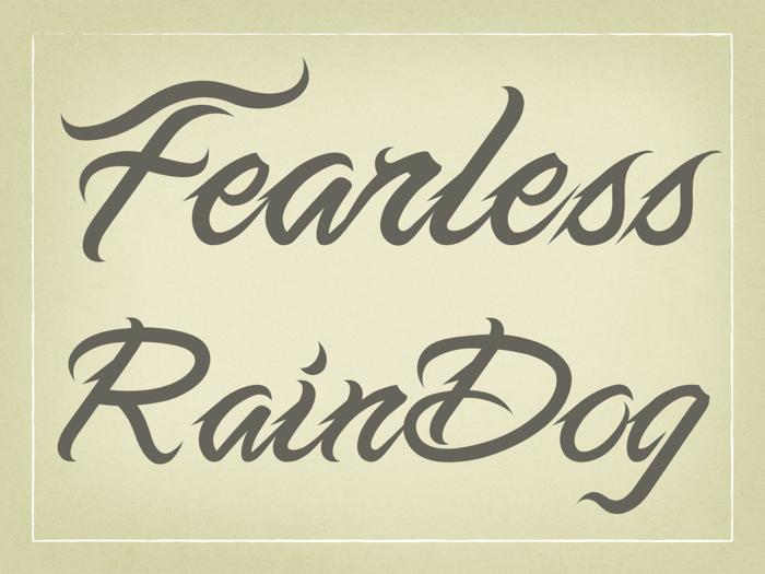 無懼手寫體 Fearless Script  刺青最佳字體