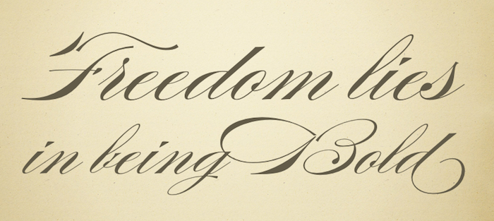 Burgues Script Alejandro Paul Freedom lies in being bold
