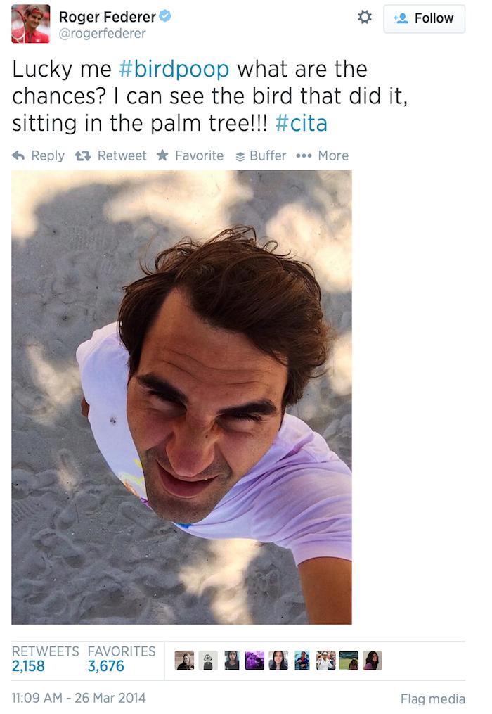 Roger Federer 鳥糞