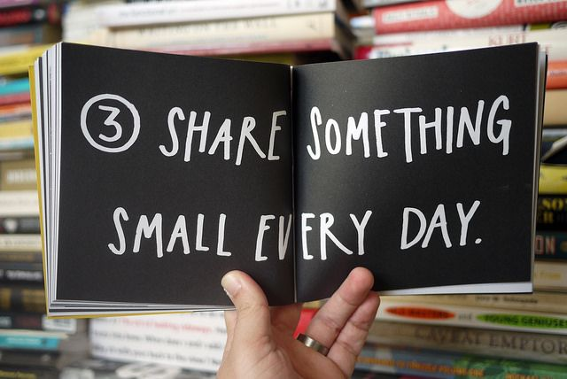 Share Something Small Every Day