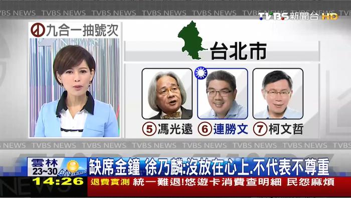 台北市長候選人號次