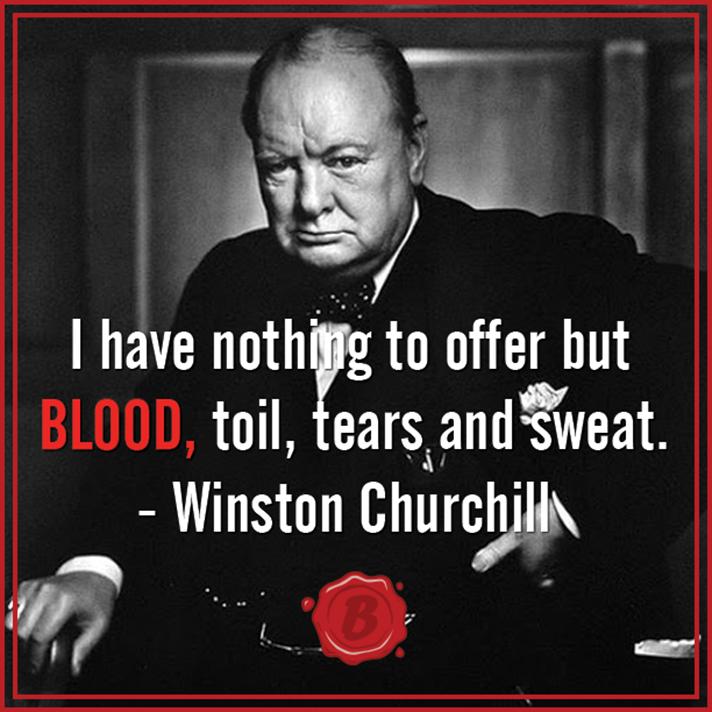邱吉爾 blood, toil, tears and sweat