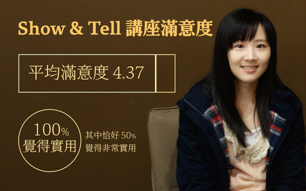 Show and Tell 滿意度