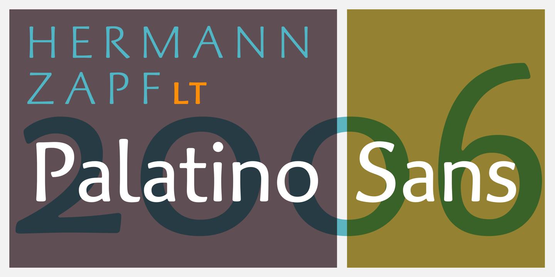 帕拉提諾無襯線體 Palatino Sans