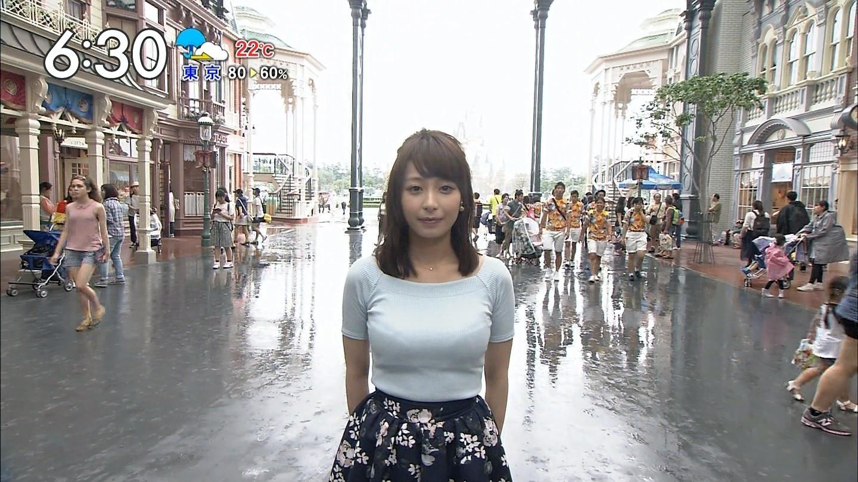 宇垣美里 乳暴力