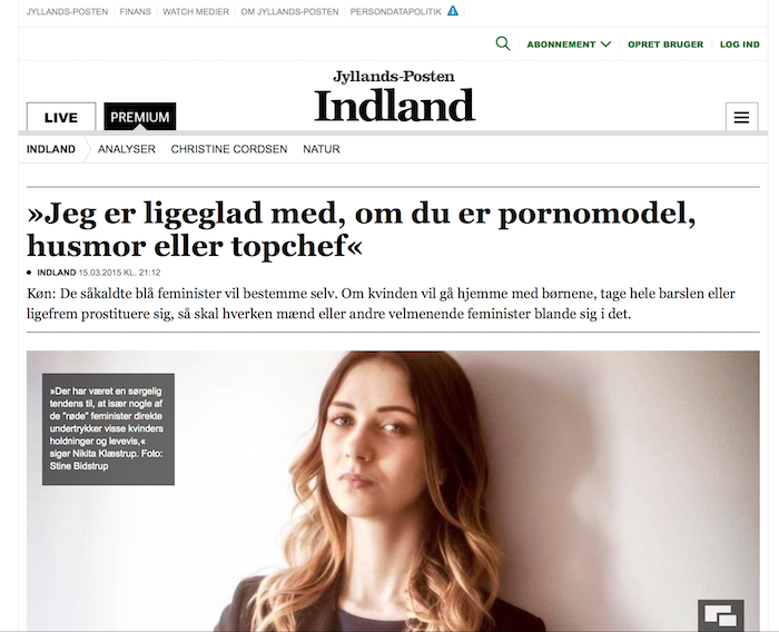 丹麥政壇之花 Nikita Klæstrup