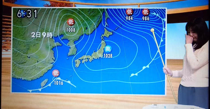 NHK山形 天気予報士、突然泣き出す  岡田美晴   岡田みはる