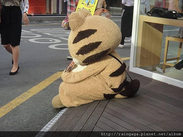 可愛又孤單的背影@弘大