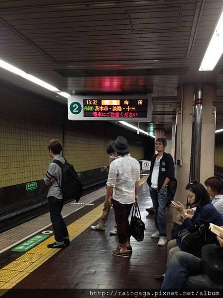 結束錦市場就搭阪急電鐵往大阪前進!