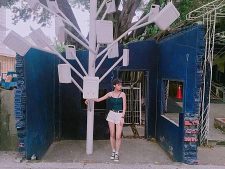藍晒圖郵筒樹