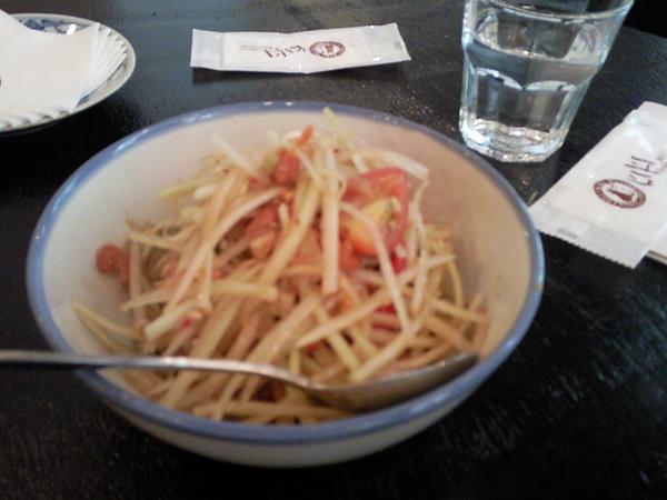KiKi Thai Cafe之好吃的青木瓜絲