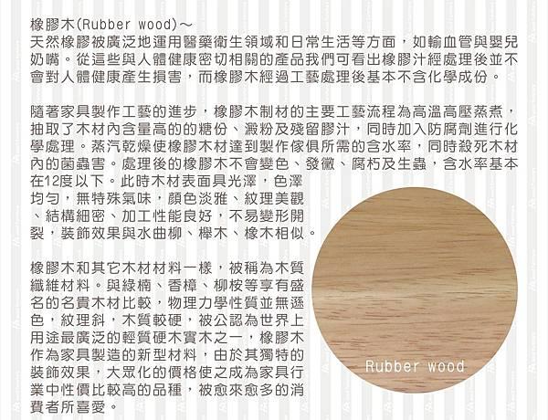 橡膠木說明