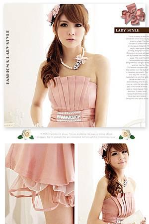 文:留與不留之【I'NANACO】美胸百摺寶石奢華禮服