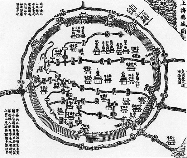 上海縣城圖
