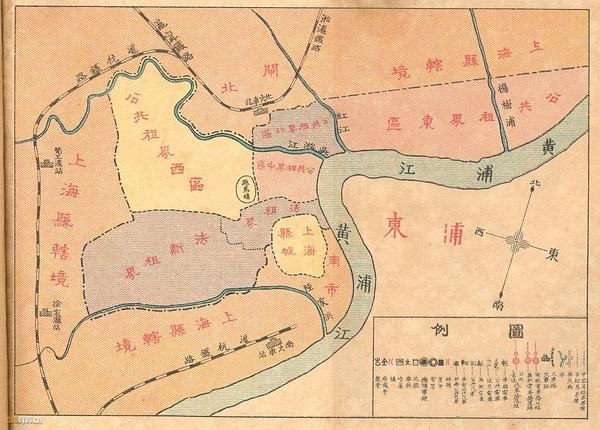 上海租界分布
