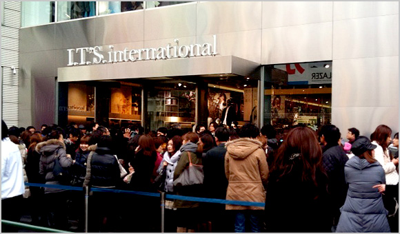 I.T.'S.international1号店原宿隆重登場