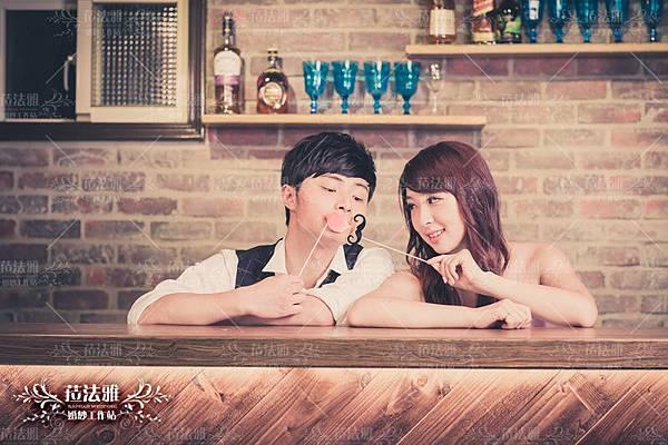 咖啡廳婚紗照自助婚紗