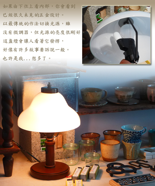 GLF-3255雙層弧玻璃玻璃桌燈2