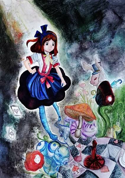 童書插畫-愛莉絲夢遊仙境