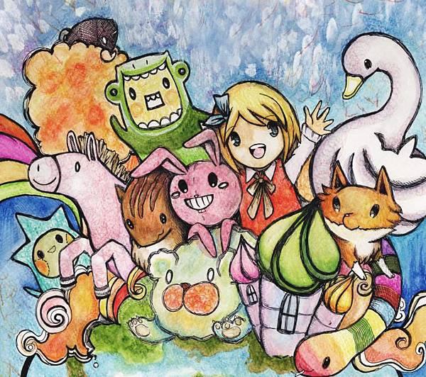 兒童插畫-遊樂世界