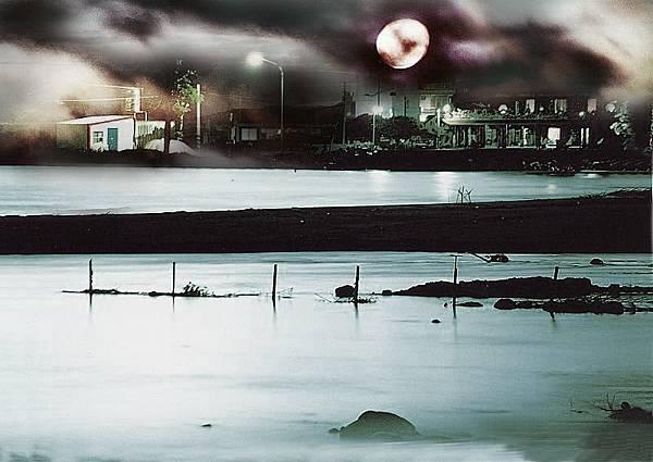 《海邊夜景-1》-《囈‧杜朵》封面的另一版本