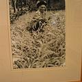 王有邦作品-魯凱族新好茶村92歲老人編織月桃蓆