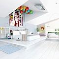 7-white-fun-bedroom-tv-on-ceiling