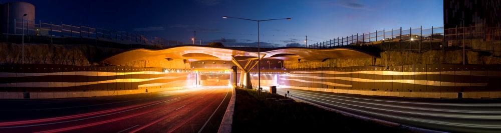 布里斯班CLEM 7遮陽棚(Brisbane CLEM 7 canopies/AECOM)