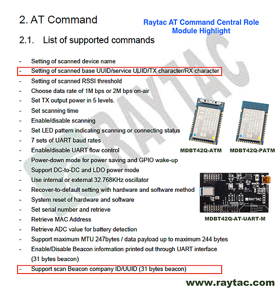 Raytac AT Command Central Role Module Highght.png