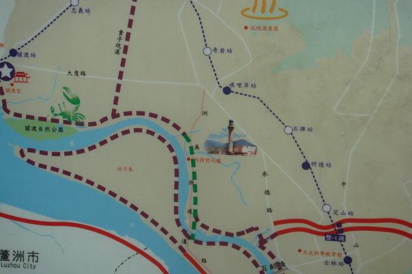 洲美快速_自行車道路網圖
