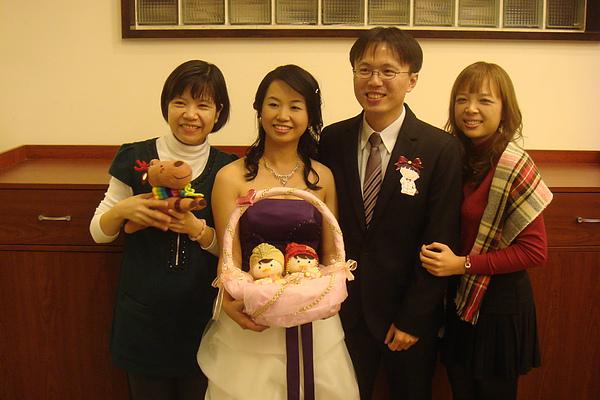 新娘的同事+新娘+新郎+新娘的舊同事