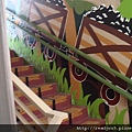 運煤小車(樓梯壁畫)