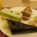 蓮香齋的素食無蛋糕點+蘆筍手捲