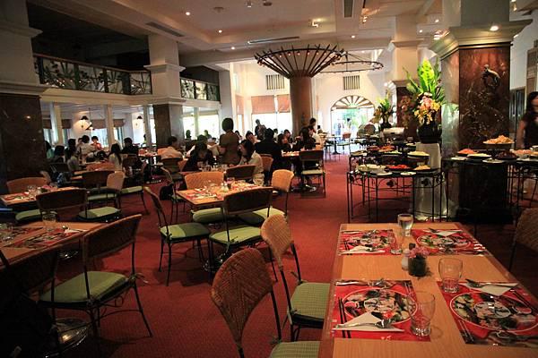 湄賓酒店用餐的大廳