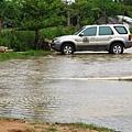 停車場淹水的慘狀