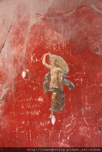 0726牆上的壁畫 紅色顏料兩千年仍不褪色