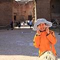 0731 卡拉卡拉浴場 太陽超級大 我的相機包看起來也超級大