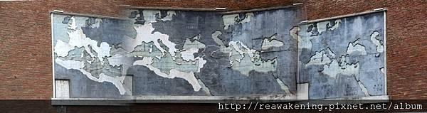 0731 牆上的羅馬帝國版圖歷史壁畫