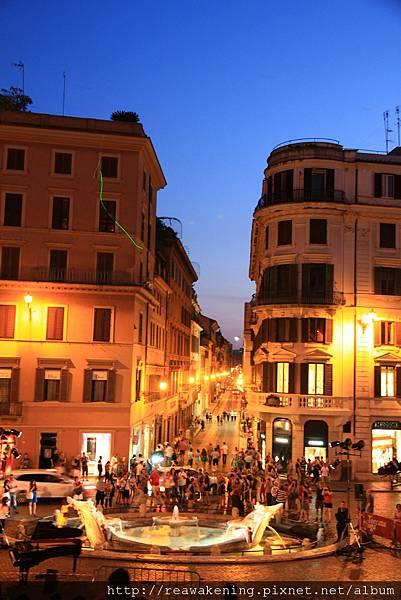 0801 已經將近日落了 羅馬街頭卻是越夜越美麗