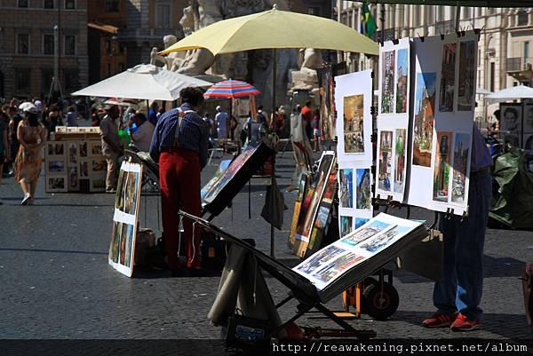 0801 廣場邊超多人在賣畫 都畫得好美
